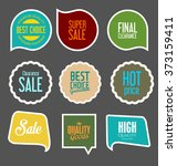 modern sale stickers collection | Shutterstock .eps vector #373159411