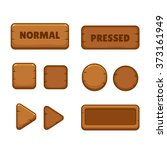 cartoon wooden buttons set in...