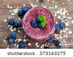 Fresh Juicy Blueberry Smoothie...