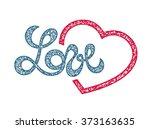 love lettering  stamp design ...   Shutterstock .eps vector #373163635