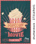 enjoy popcorn and watch the... | Shutterstock .eps vector #373169641