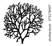 Coral. Black And White. Vector...