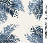 palm leaf vector background... | Shutterstock .eps vector #373183267