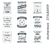 quotes typography set | Shutterstock . vector #373183459