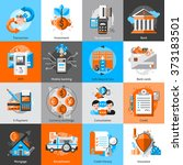 banking icons set | Shutterstock . vector #373183501