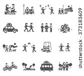 outing icons set | Shutterstock . vector #373183609