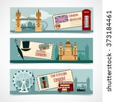 london touristic banner set | Shutterstock . vector #373184461