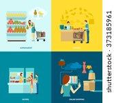 buyer flat icons set | Shutterstock . vector #373185961