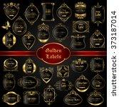 vintage gold framed labels  ...   Shutterstock .eps vector #373187014