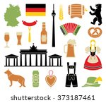 traditional symbols of culture  ... | Shutterstock .eps vector #373187461