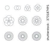 vector circle black outline... | Shutterstock .eps vector #373187491