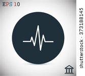heartbeat icon | Shutterstock .eps vector #373188145