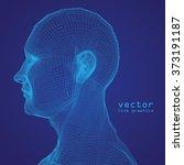 3d mesh human head medical scan ... | Shutterstock .eps vector #373191187