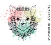 chihuahua graphic dog  abstract ... | Shutterstock .eps vector #373191757