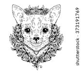 chihuahua graphic dog  abstract ...