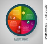 infographic design template and ... | Shutterstock .eps vector #373192639