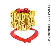random acts of kindness day... | Shutterstock . vector #373192669