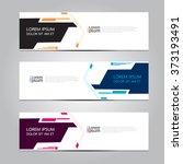 vector design banner... | Shutterstock .eps vector #373193491
