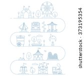 vector amusement park... | Shutterstock .eps vector #373195354