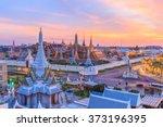 beautiful landmark of bangkok... | Shutterstock . vector #373196395