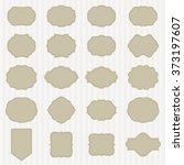 art set of vector vintage frame ... | Shutterstock .eps vector #373197607
