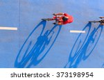 motion blur of cyclist during... | Shutterstock . vector #373198954