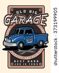 vintage garage retro poster.car ... | Shutterstock .eps vector #373199905