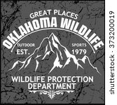 oklahoma wildlife.mountain... | Shutterstock .eps vector #373200019