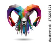goat's head  eps10 vector   Shutterstock .eps vector #373205521