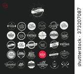 set of vintage premium quality...   Shutterstock .eps vector #373207087