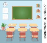 school classroom with... | Shutterstock .eps vector #373208077