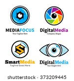 set of smart media logo  badges ...