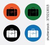 travel bag icon | Shutterstock .eps vector #373213015