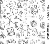 seamless valentine's day... | Shutterstock .eps vector #373214467