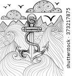 vector zentangle print for... | Shutterstock .eps vector #373217875