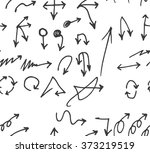 vector hand drawn arrows set... | Shutterstock .eps vector #373219519