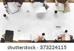 business team planning strategy ...   Shutterstock . vector #373224115