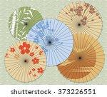 Japanese Umbrellas With...