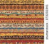 orange african pattern   Shutterstock .eps vector #373232341