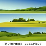 three abstract banners with... | Shutterstock .eps vector #373234879