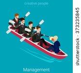 team management flat 3d... | Shutterstock .eps vector #373235845