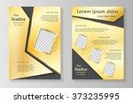 vector flyer template design... | Shutterstock .eps vector #373235995