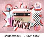 vector illustration of radio... | Shutterstock .eps vector #373245559