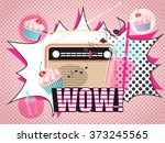 vector illustration of radio... | Shutterstock .eps vector #373245565