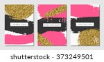 a set of three abstract brush... | Shutterstock .eps vector #373249501