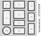 set of photo or picture frames... | Shutterstock .eps vector #373253509