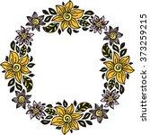 floral nature pattern frame...   Shutterstock .eps vector #373259215