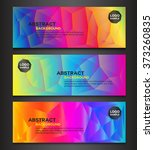 colorful polygon banner with... | Shutterstock .eps vector #373260835