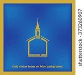church vector icon. flat design ...
