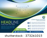vector brochure  flyer ... | Shutterstock .eps vector #373261015